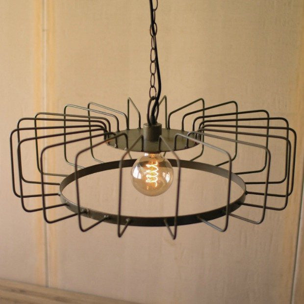 Metal Wire Barrel Pendant Light - E.T. Tobey Company - Modern Farmhouse