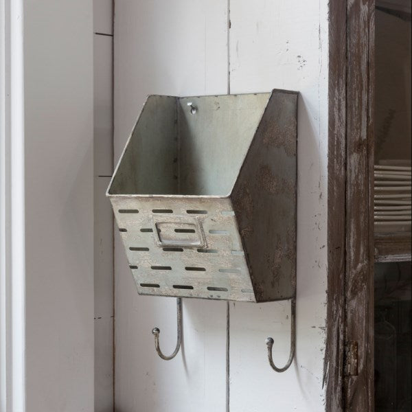 Metal Letter Box with Hooks