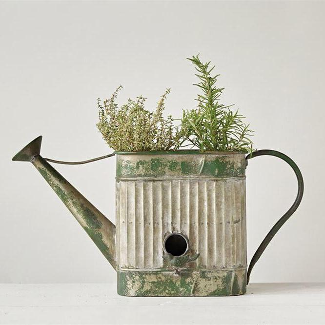 Decorative Metal Watering Can Birdhouse