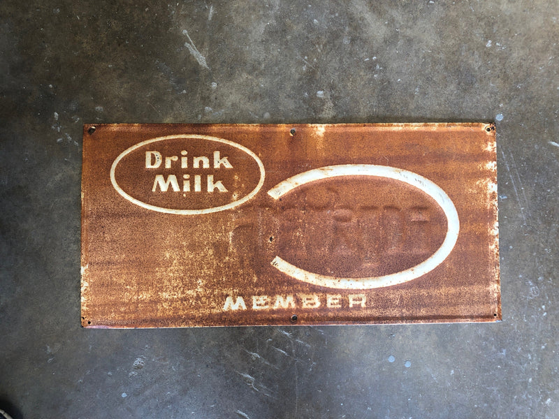 Antique Milk Sign