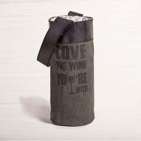 Love The Wine You're With Canvas Wine Bag - E.T. Tobey Company