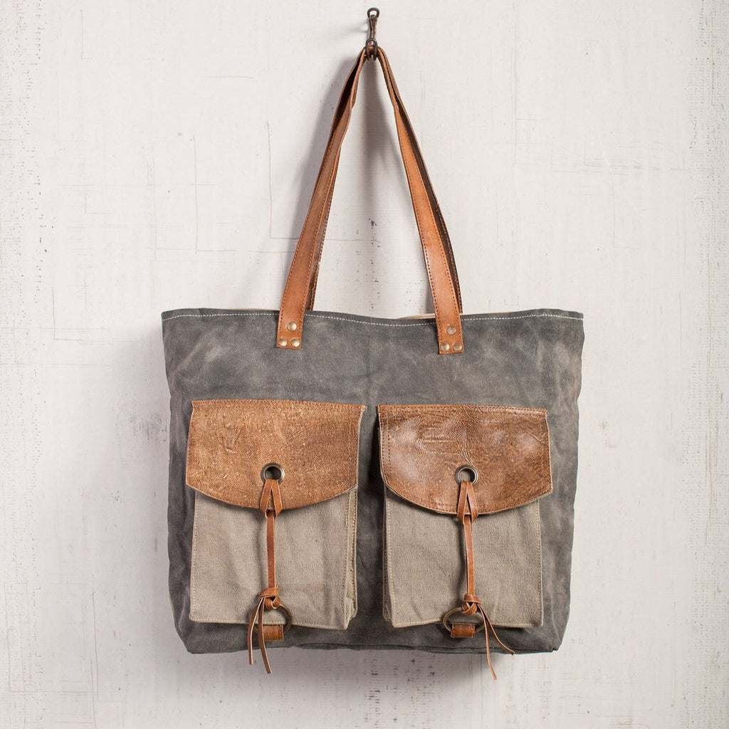 Flap & Strings Shoulder Bag