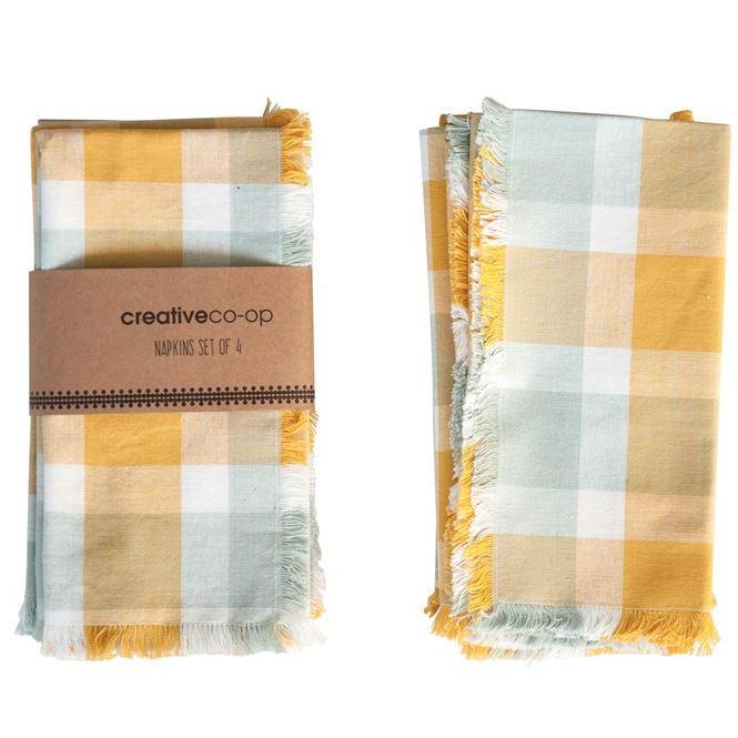 Square Cotton Plaid Napkins