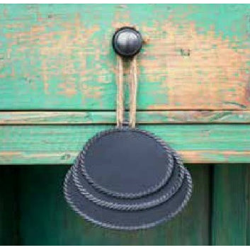 Hanging Metal Oval Blackboard - E.T. Tobey Company