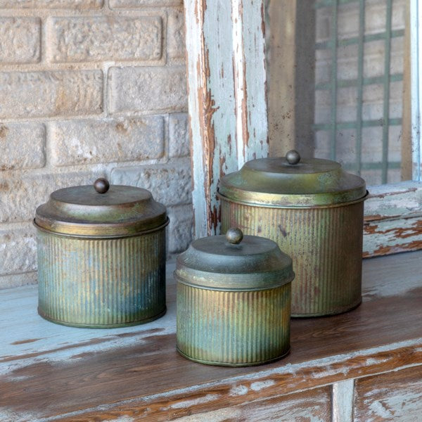 Patina Lidded Canister