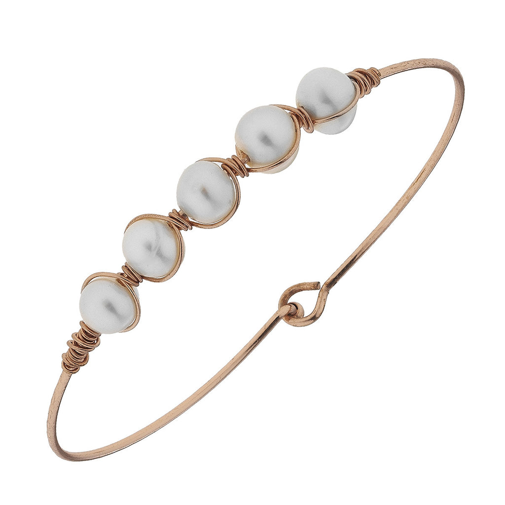 Wired Pearl Bangle - E.T. Tobey Company