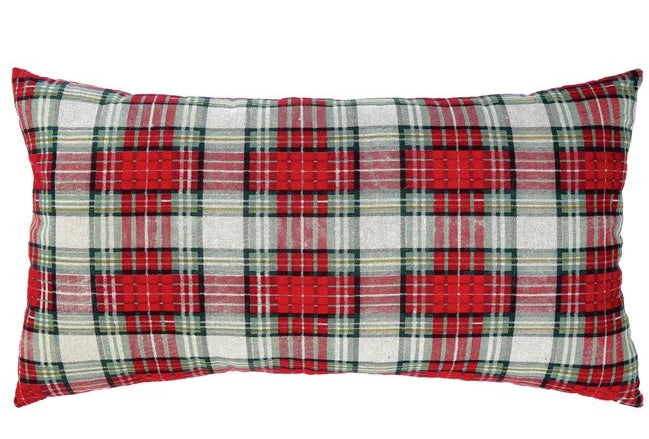 Red & Green Plaid Pillow
