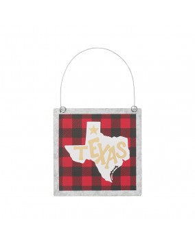Texas Tin Ornament