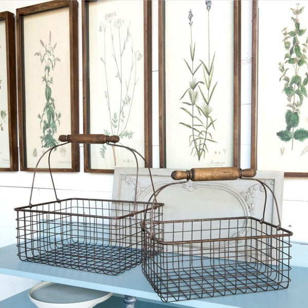 Wire Bakery Shopping Baskets