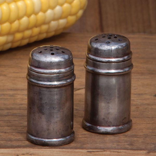 Old Silver Plated Salt & Pepper