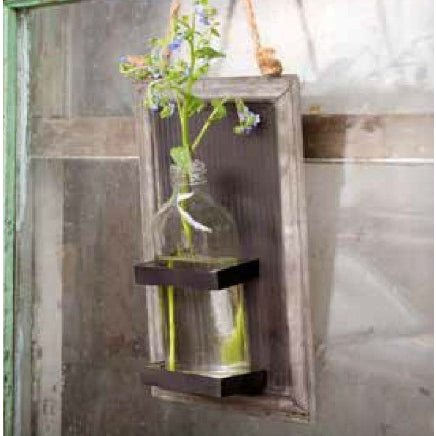 Hanging Bottle Vase on Sheet Metal Blackboard - E.T. Tobey Company