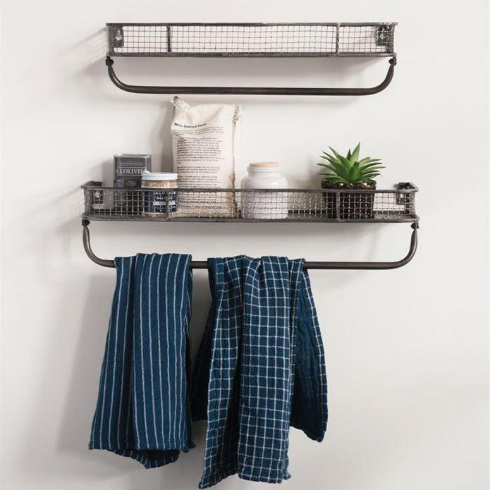 Metal Wall Shelves w/ Bar