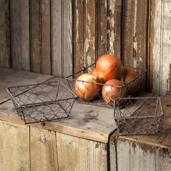 Square Wire Berry Baskets