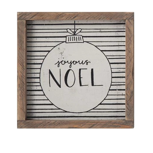 Holiday Wood Framed Wall Sign