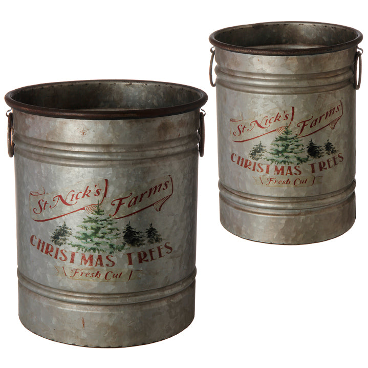 St. Nick Metal Bucket