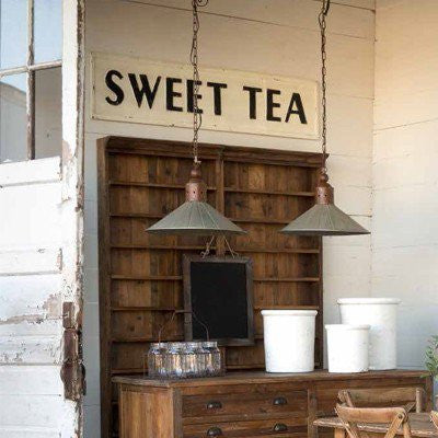 Embossed SWEET TEA SIGN - Metal Sign - Southern style