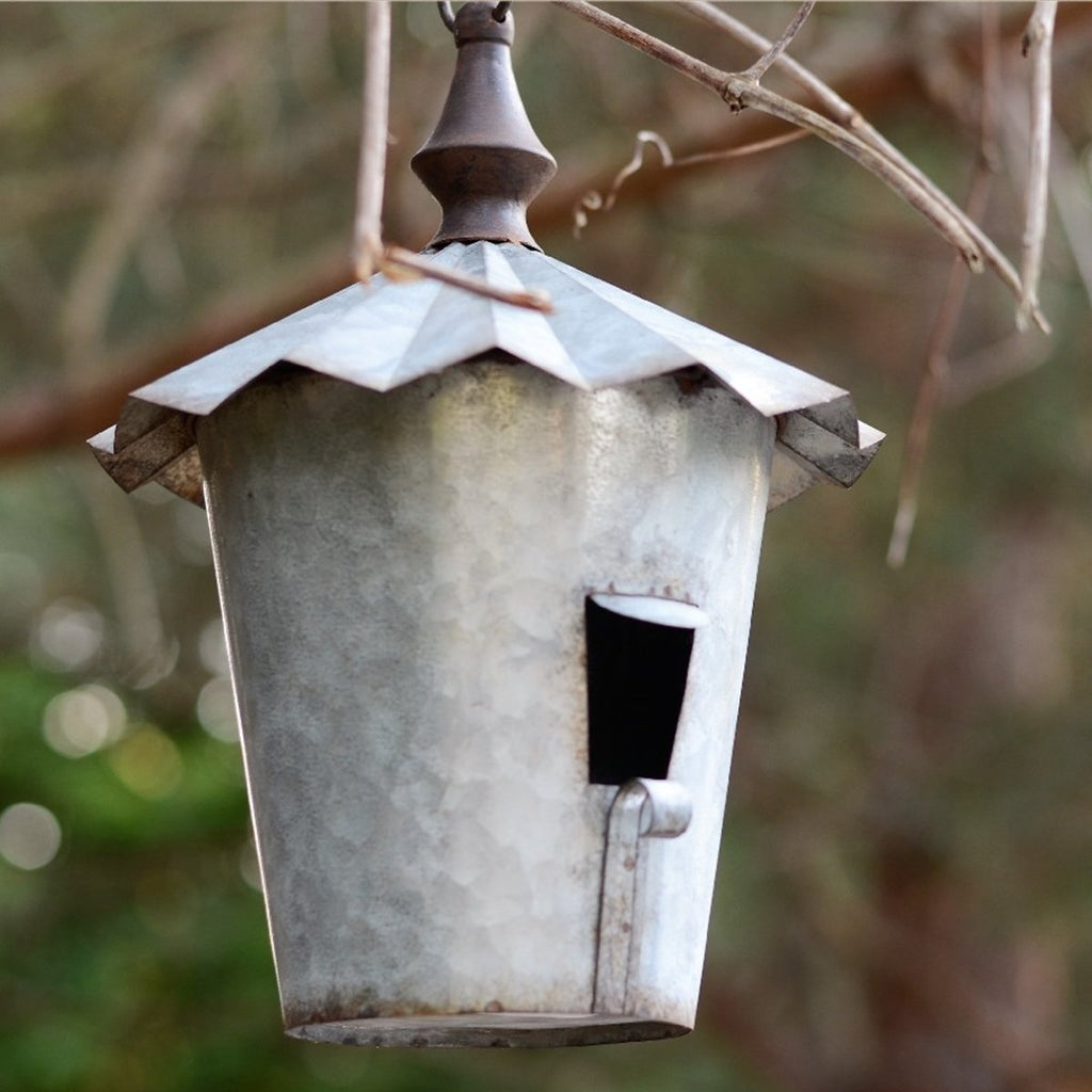 Tall Tin Birdhouse