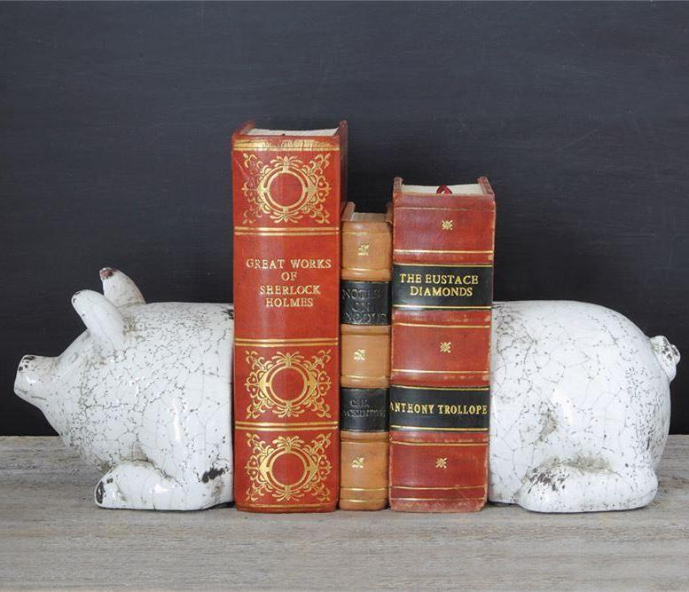 Terra-cotta Pig Bookends