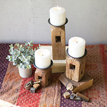 Wooden Furniture Leg Candle Holders
