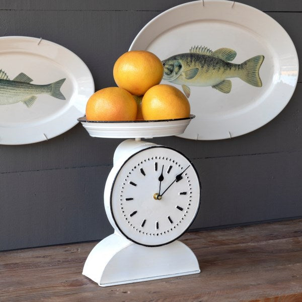 Vintage Style Painted Grocers Scale Clock