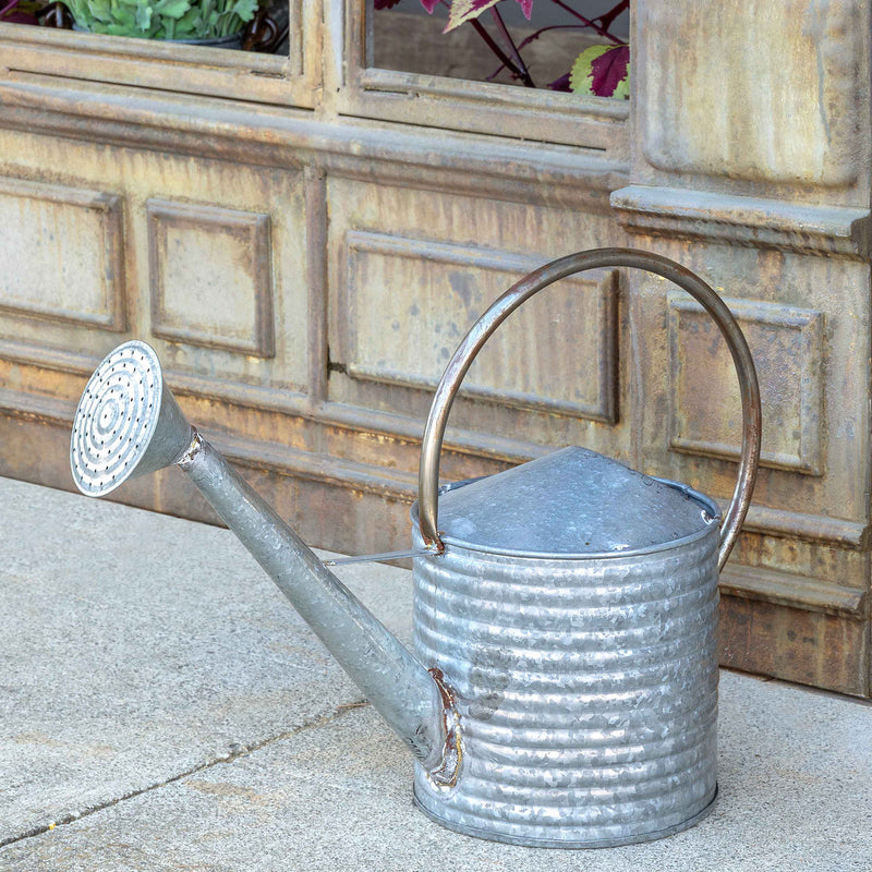 Vintage-Style Metal Watering Can