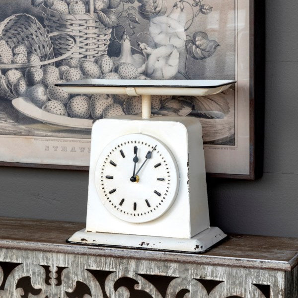 Vintage Style Painted Homemakers Scale Clock