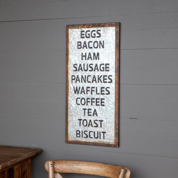 Metal Whats for Breakfast Sign