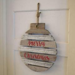 Wooden Merry Christmas Door Hanger