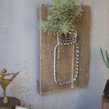 Jar Sting Wall Art - farmhouse decor