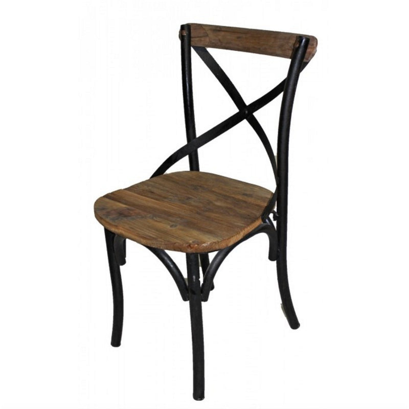 Iron X-Back Side Chair - E.T. Tobey Company