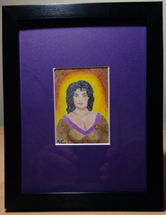 Deanna Troi 2.5x3.5 Sketch Card Framed Original Art