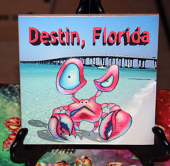 Destin Crab Custom Art Print Tile