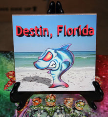 Destin Shark Custom Art Print Tile