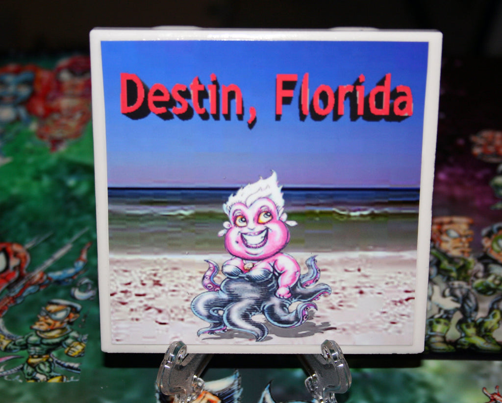 Destin Ursula Custom Art Print Drink Coaster