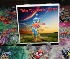 Who You Lookin At Custom Art Print Drink Coaster