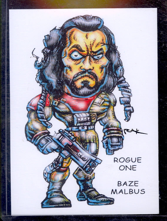 "Baze Malbus-Rogue One ""Trading Card Art"" by RAK"