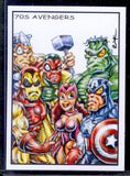 "70's Avengers ""Trading Card Art"" by RAK"