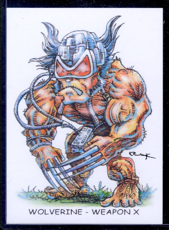 "Wolverine-Weapon X ""Trading Card Art"" by RAK"