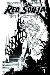 Red Sonja The Black Tower #1 (of 4) 10 Copy Conner B&W INCV VF/NM
