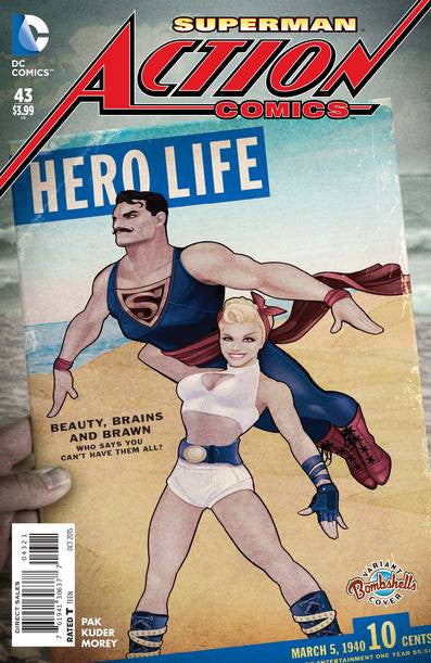 Action Comics #43 Bombshells Var Ed VF/NM