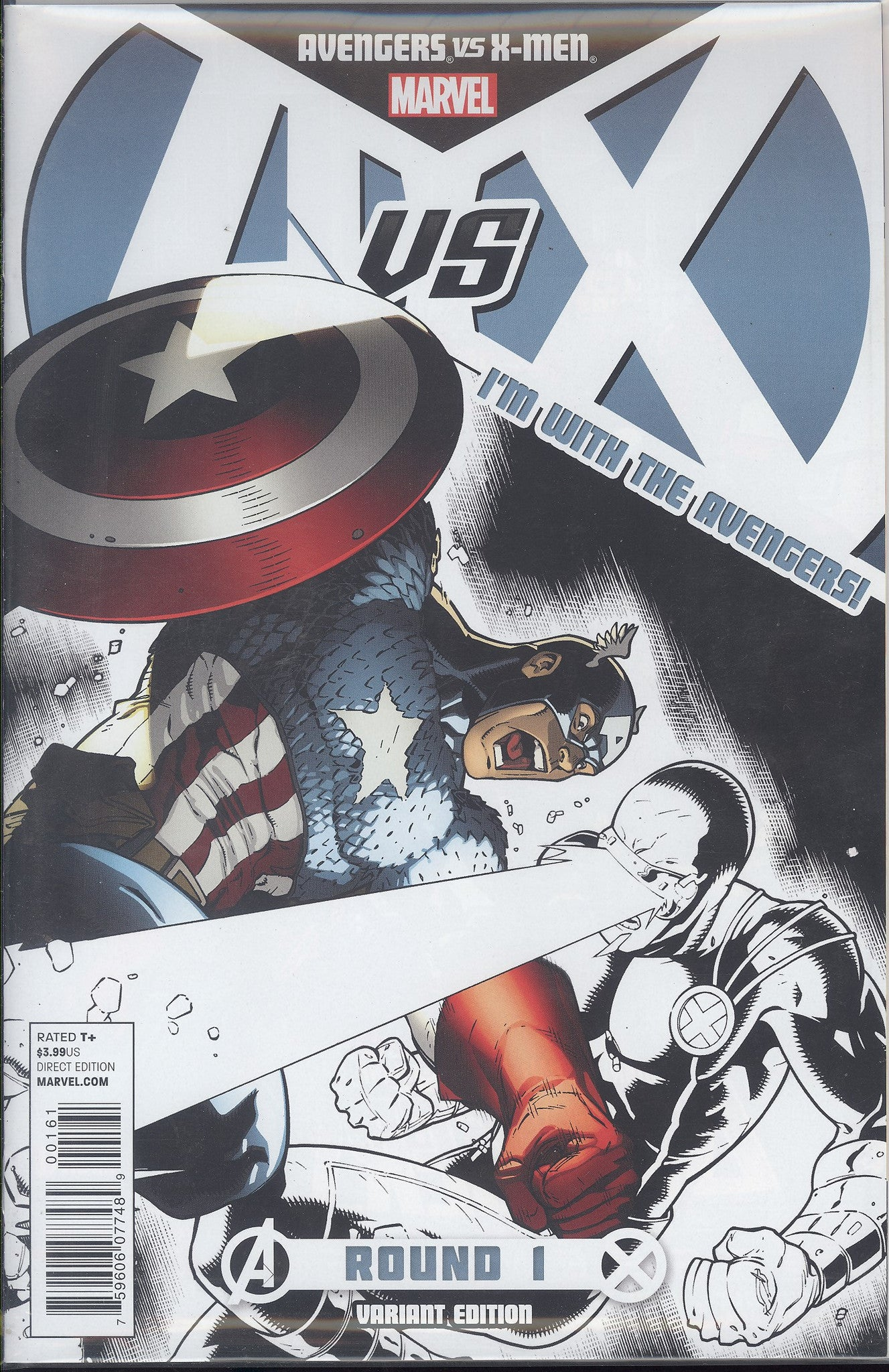 Avengers vs X-Men #1 (of 12) Avengers Team Store Var  AVX VF/NM