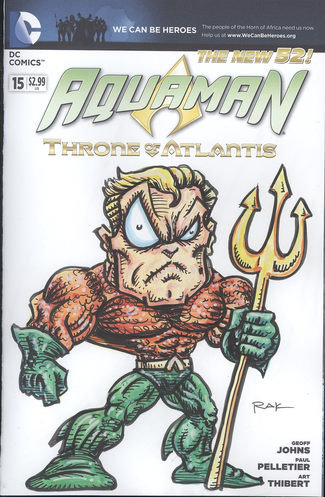 Aquaman #15 W/Original Art by RAK (Robert A Kraus)