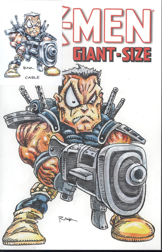 X-Men Giant-Size W/Original Art by RAK & Hand Signed ACEO Card