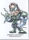 Green Lantern #13 W/Original Art by RAK & Hand Signed ACEO Card