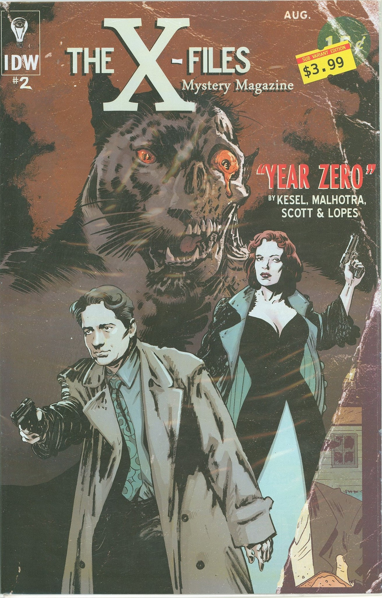 X Files Year Zero #2 (of 5) Subs. Variant VF/NM