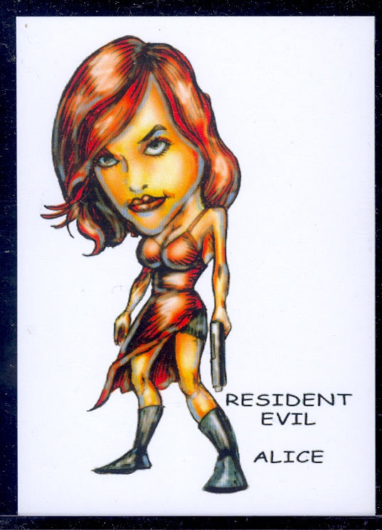 "Alice (Resident Evil) ""Trading Card Art by RAK"