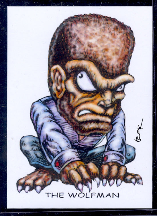 "Wolfman ""Trading Card Art"" by RAK"