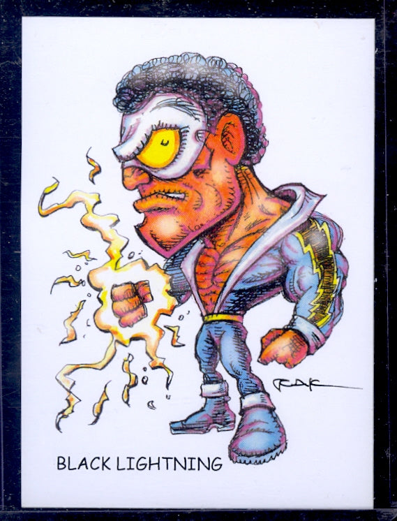 "Black Lightning :Trading Card Art"" by RAK"