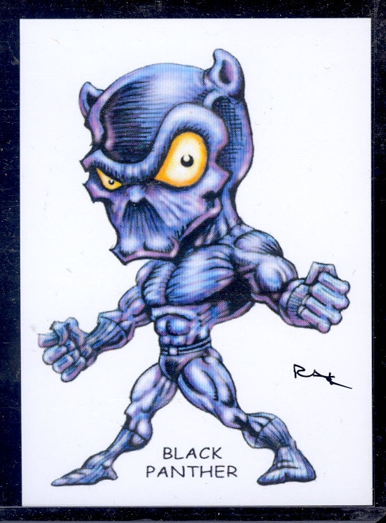"Black Panther ""Trading Card Art"" by RAK"