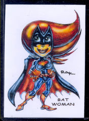 "Bat Woman ""Trading Card Art"" by RAK"